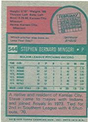 1975 Topps #544 Steve Mingori back image