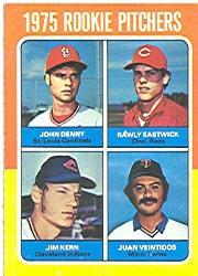 1975 Topps #621 Rookie Pitchers/John Denny RC/Rawly Eastwick RC/Jim Kern RC/Juan Veintidos RC