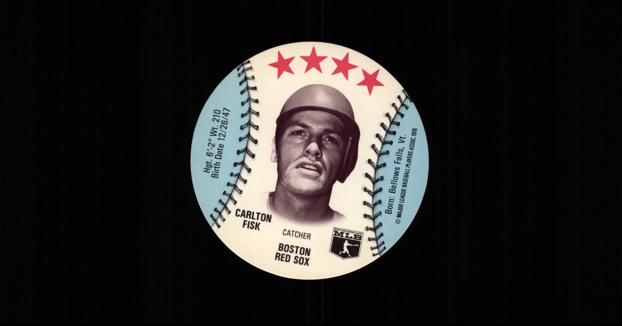 1976 Blankback Discs #14 Carlton Fisk