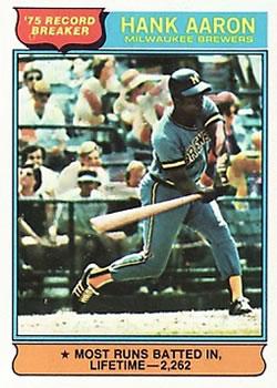 1976 Topps #1 Hank Aaron RB