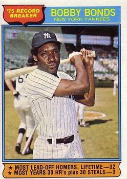 1976 Topps #2 Bobby Bonds RB