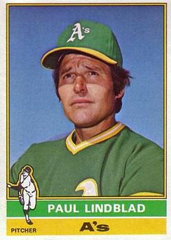 1976 Topps #9 Paul Lindblad