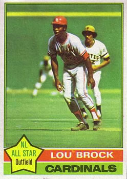 1976 Topps #10 Lou Brock