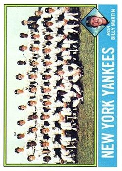 1976 Topps #17 New York Yankees CL/Billy Martin MG