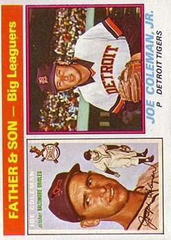 1976 Topps #68 Joe Coleman FS/Joe Coleman Jr.