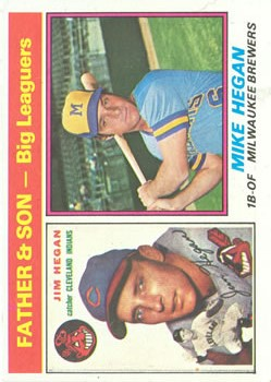 1976 Topps #69 Jim Hegan FS/Mike Hegan