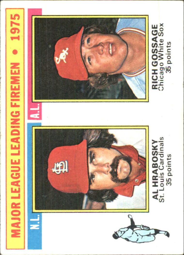 1976 Topps #205 NL/AL Leading Firemen/Al Hrabosky/Rich Gossage
