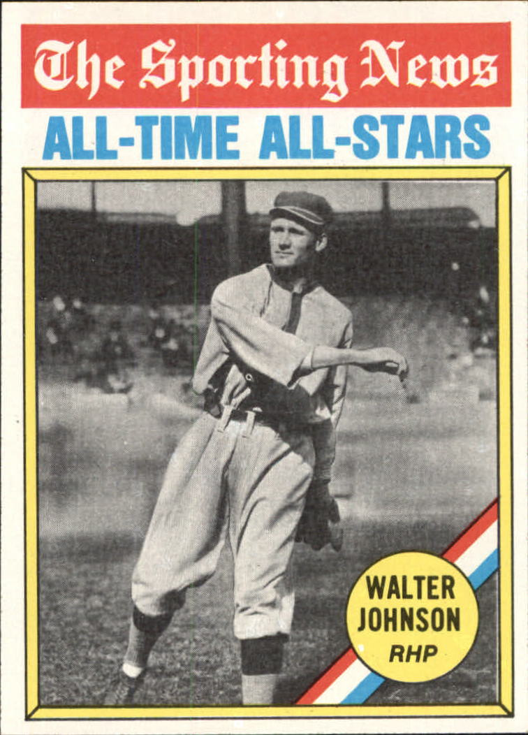 1976 Topps #349 Walter Johnson ATG