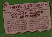 1976 Topps Traded #309T Bill Melton back image