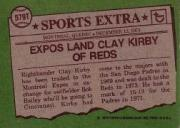 1976 Topps Traded #579T Clay Kirby back image
