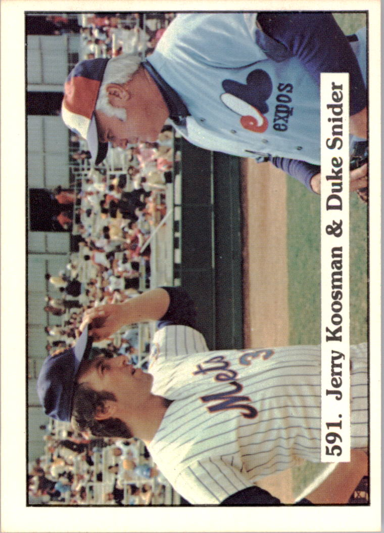 1976 SSPC #591 Jerry Koosman/Duke Snider CL