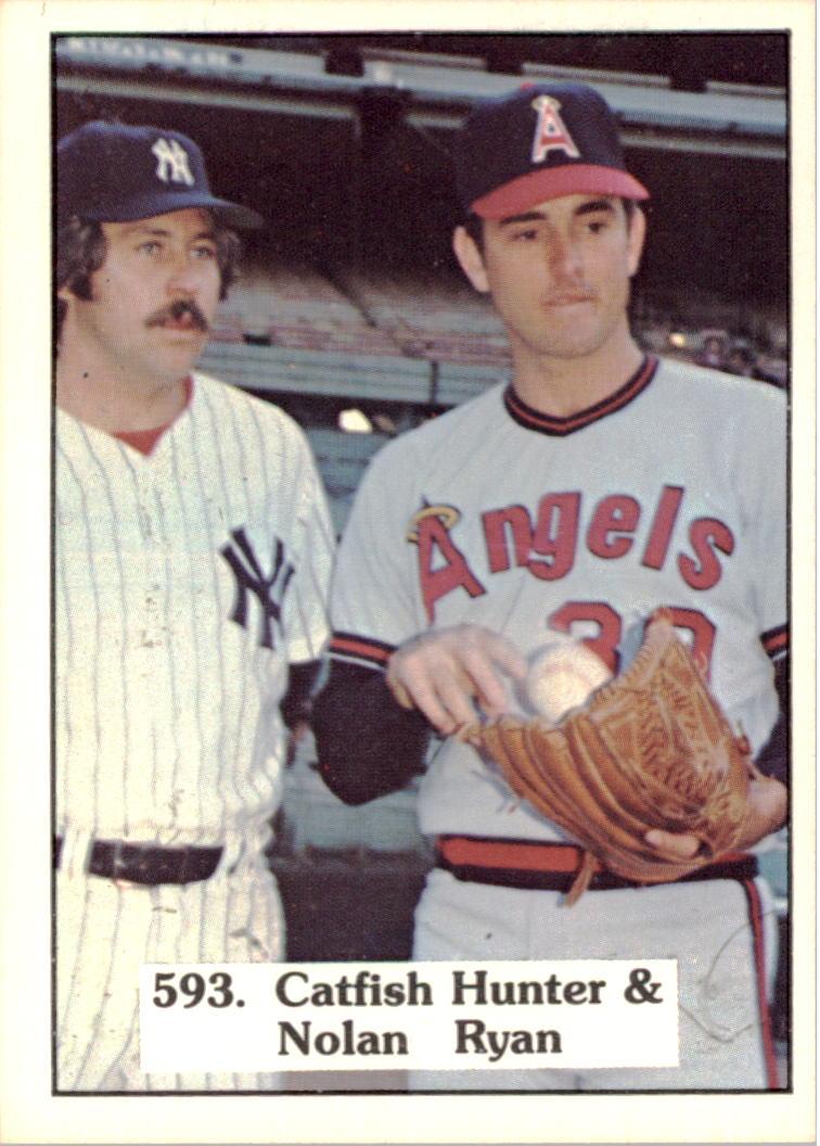 Details About 1976 Sspc 593a Checklist 5 Error Jim Hunter Nolan Ryan Noland Nm Baseball Card
