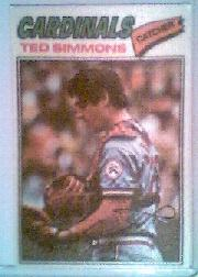 1977 Topps Cloth Stickers #43 Ted Simmons