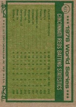 1977 Topps #411 World Series/Joe Morgan/Johnny Bench back image