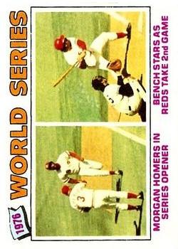 1977 Topps #411 World Series/Joe Morgan/Johnny Bench