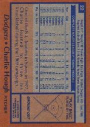 1978 Topps #22 Charlie Hough back image