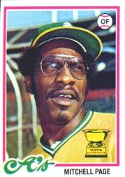 1978 Topps #55 Mitchell Page RC