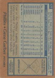 1978 Topps #177 Gene Garber DP back image