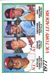 1978 Topps #205 Victory Leaders/Steve Carlton/Dave Goltz/Dennis Leonard/Jim Palmer