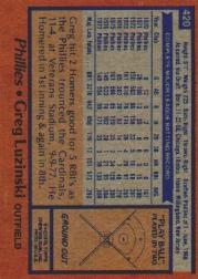 1978 Topps #420 Greg Luzinski back image