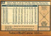 1978 O-Pee-Chee #230 Rod Carew back image