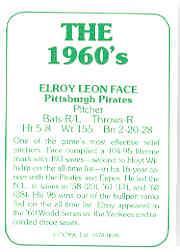 1978 TCMA 60'S I #5 Roy Face back image