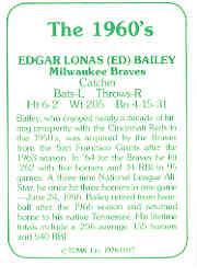 1978 TCMA 60'S I #37 Ed Bailey back image