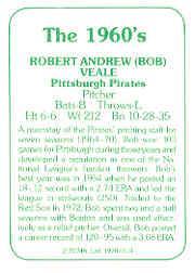 1978 TCMA 60'S I #114 Bob Veale back image