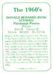 1978 TCMA 60'S I #118 Don Schwall back image