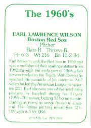 1978 TCMA 60'S I #148 Earl Wilson back image