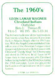 1978 TCMA 60'S I #165B Leon Wagner back image