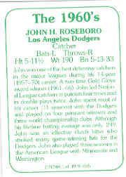 1978 TCMA 60'S I #185 John Roseboro back image