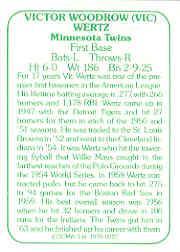 1978 TCMA 60'S I #227 Vic Wertz back image