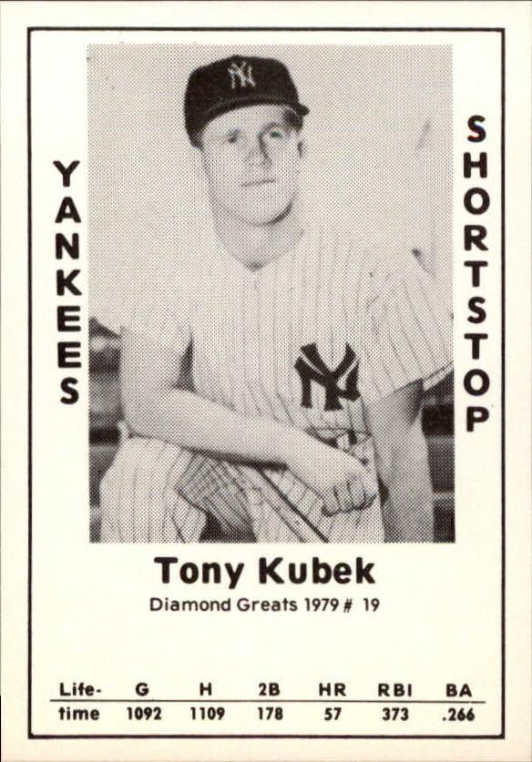 1979 Diamond Greats #19 Tony Kubek