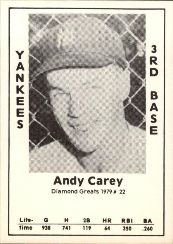 1979 Diamond Greats #22 Andy Carey