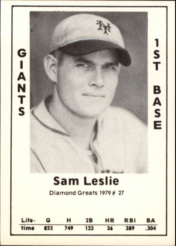 1979 Diamond Greats #27 Sam Leslie