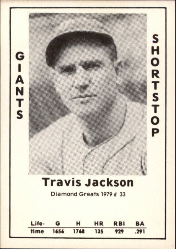 1979 Diamond Greats #33 Travis Jackson