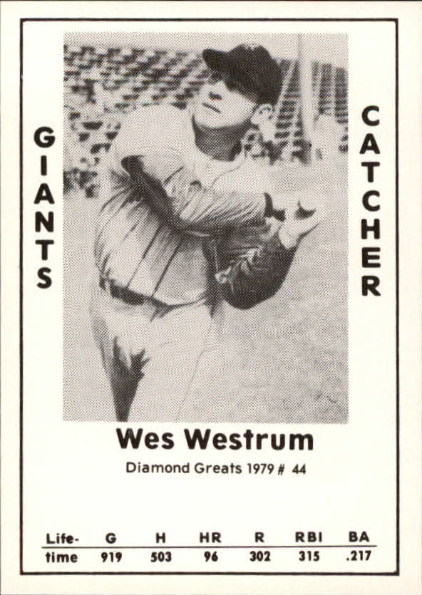 1979 Diamond Greats #44 Wes Westrum