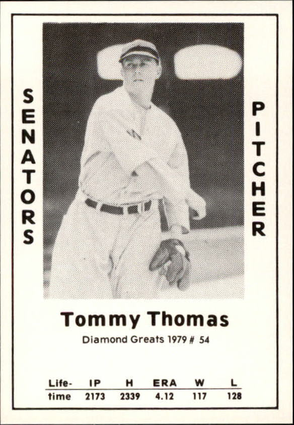 1979 Diamond Greats #54 Tommy Thomas