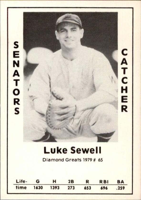 1979 Diamond Greats #65 Luke Sewell
