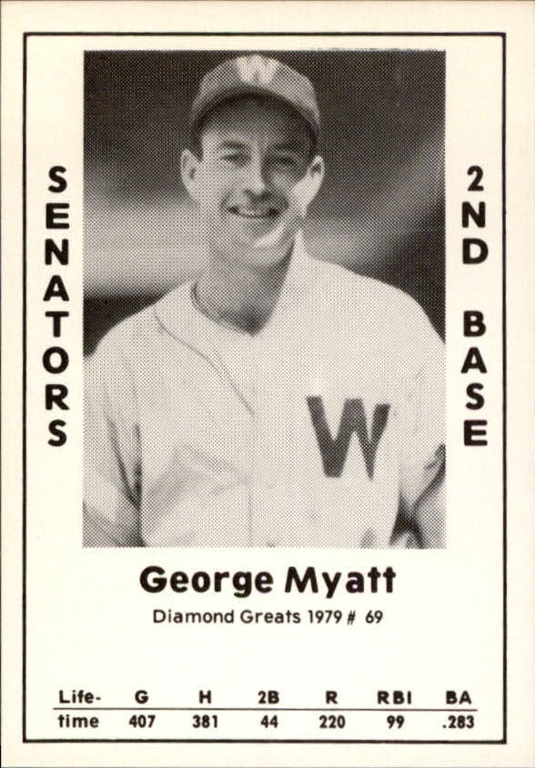 1979 Diamond Greats #69 George Myatt