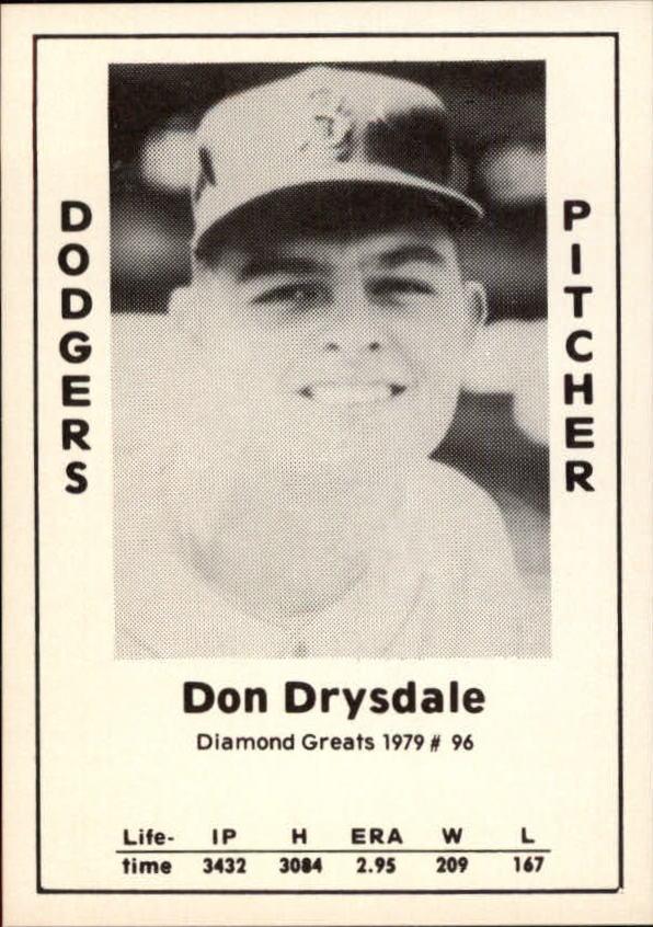 1979 Diamond Greats #96 Don Drysdale