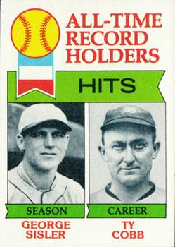 1979 Topps #411 George Sisler ATL/Ty Cobb