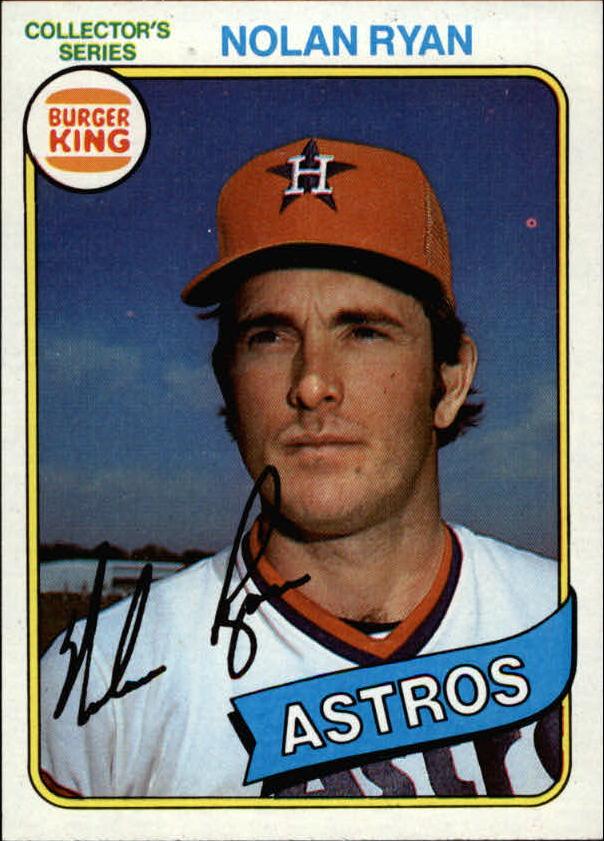 1980 Burger King Pitch/Hit/Run #9 Nolan Ryan */Houston Astros