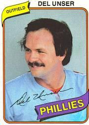 1980 Phillies Burger King #13 Del Unser