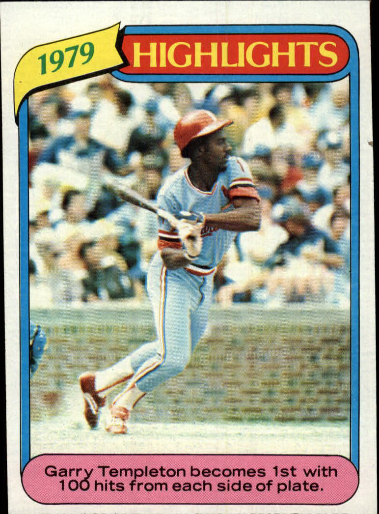 1980 Topps #5 Garry Templeton HL