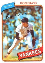 1980 Topps #179 Ron Davis RC