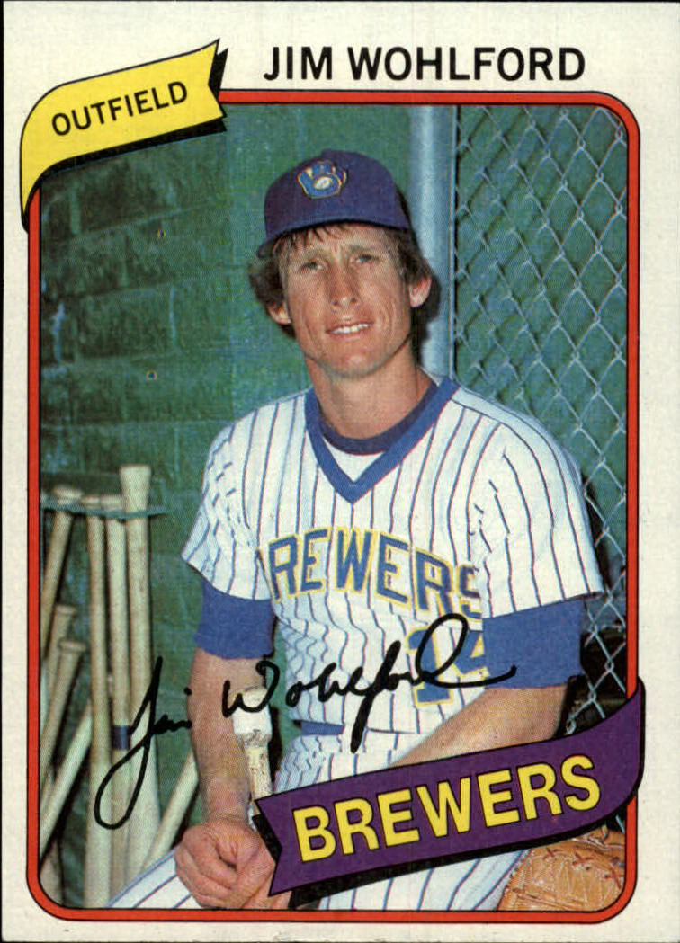 1980 Topps #448 Jim Wohlford