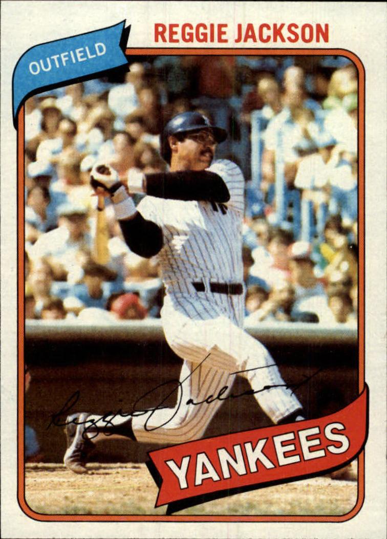 1980 Topps #600 Reggie Jackson - NM