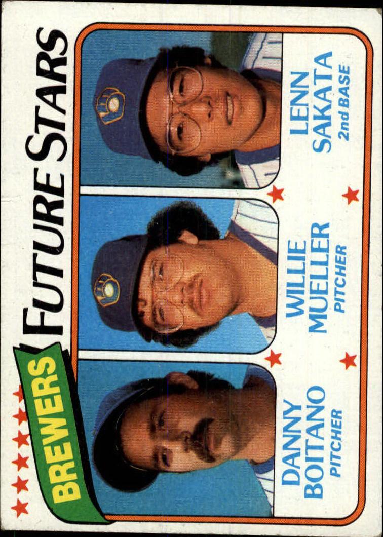 1980 Topps #668 Danny Boitano RC/Willie Mueller RC/Lenn Sakata RC